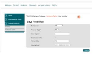 1. Akses ke situs Bank BNI