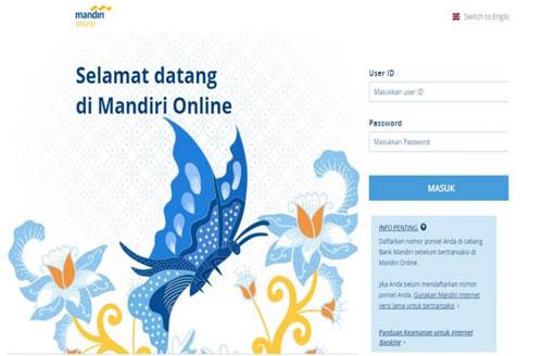 1. Masukkan User ID dan PIN Internet Banking Mandiri