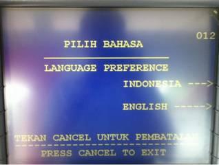 1. Pilihlah bahasa yang akan digunakan dalam proses transaksi.