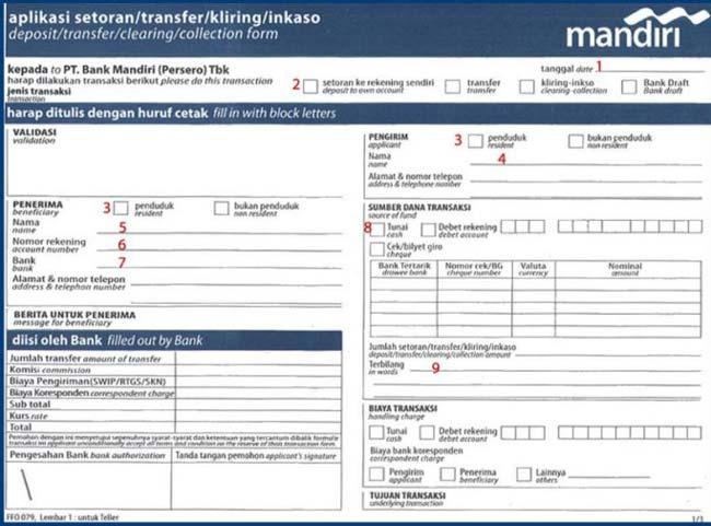 2. Lalu ambil formulir aplikasi setoran bank Mandiri untuk bayar UKT UB