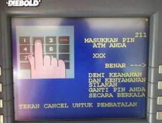 2. Masukkan PIN ATM Anda dengan benar