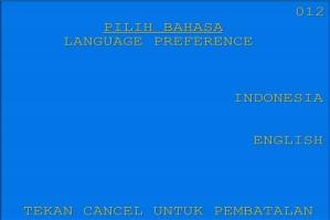 2. Pilih bahasa yang akan digunakan untuk melakukan transaksi di ATM