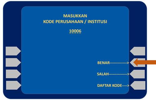 3. Ketikkan kode perusahaan yaitu 10006 yang merupakan kode Universitas Brawijaya untuk Bank Mandiri