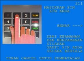 3. Masukkan nomor PIN ATM