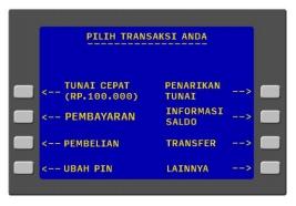3. Selanjutnya pada layar akan menampilkan menu transaksi lalu pilih menu Pembayaran.