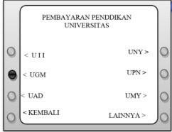 4. Cari nama universitas UGM