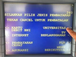 6. Pilih jenis pembayaran Universitas