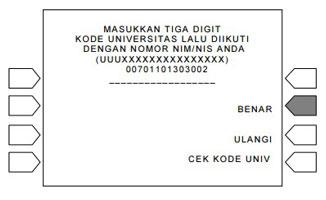 7. Masukkan Kode Universitas Sriwijaya
