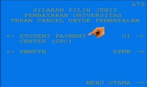 8. Kemudian pilih Student Payment Center SPC
