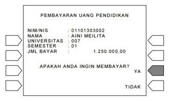 9. Muncul Pembayaran Uang Pendidikan