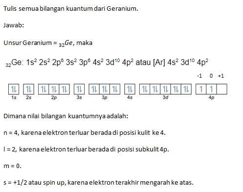 Contoh Soal Bilangan Kuantum Geranium