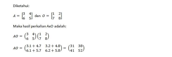 Perkalian Matriks Persegi Ordo Dua