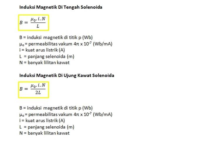 Rumus Induksi Magnetik 2