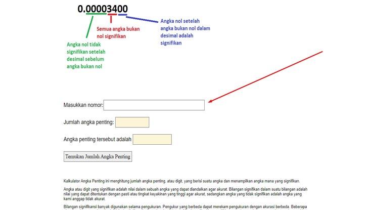 3.Setelah masuk dalam web kalkulator carilah kolom kosong tempat memasukkan nomor atau bilangan.