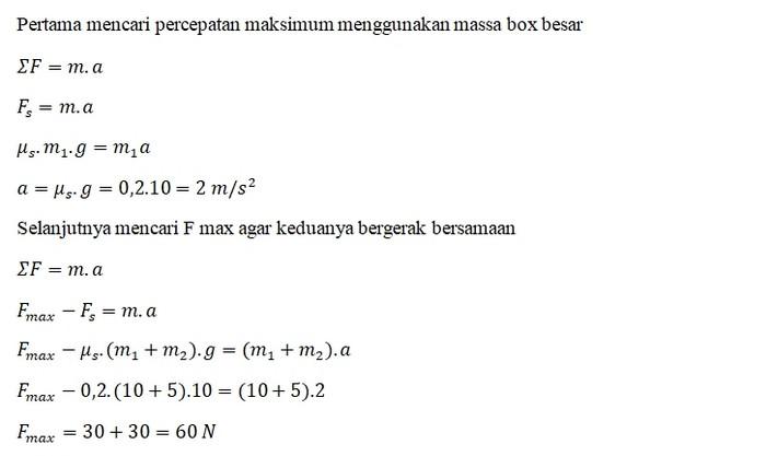 Jawaban Contoh Soal Gaya Gesek 7