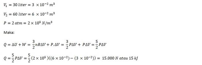 Jawaban Contoh Soal Termodinamika SMA 2