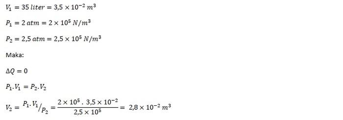 Jawaban Contoh Soal Termodinamika SMA 3