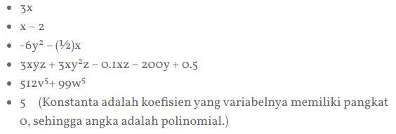 contoh lain polinomial
