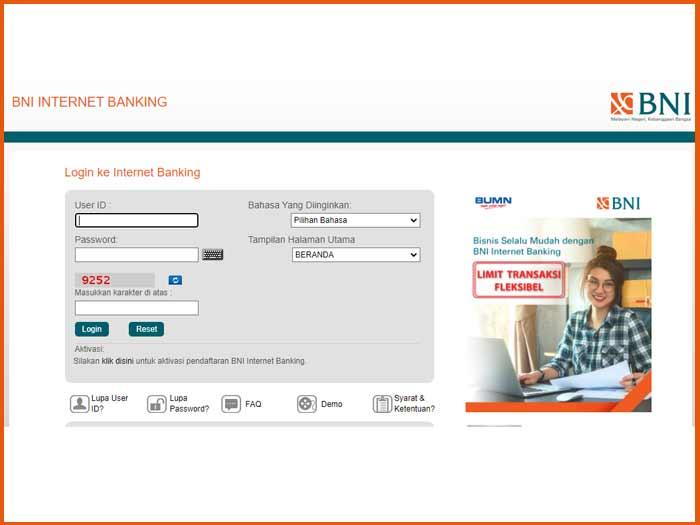 1.Akses Fitur Internet Banking BNI Untuk Bayar UKT UNY