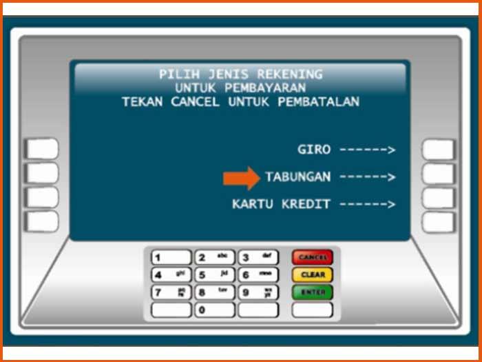 10. Pilih Sumber Dana Untuk Melakukan Proses Bayar UKT UNY di ATM BNI