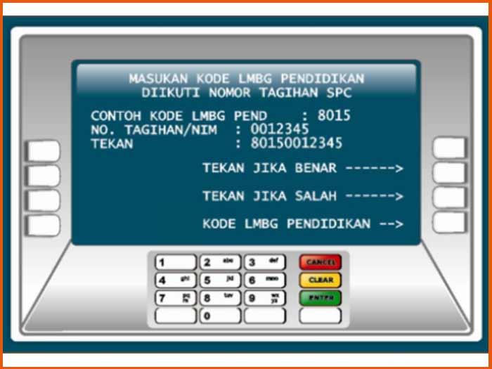 8. Masukkan Kode Bayar UKT UNY ATM Bank BNI