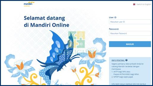 1. Akses Internet Banking Mandiri