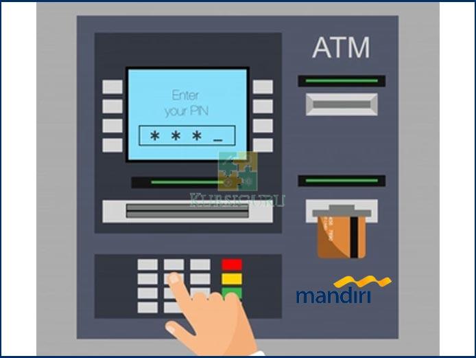 1. Kunjungi ATM Mandiri