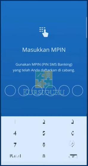 6. Masukkan MPIN Mandiri Mobile Untuk Melanjutkan Proses Bayar UKT Unsri