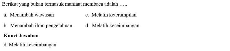 Contoh Soal PTS  4