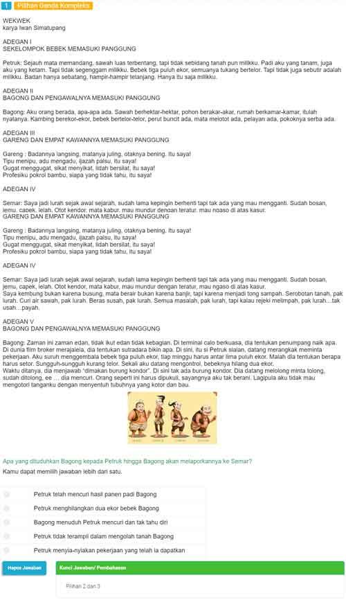 Contoh Soal AKM Literasi Fiksi 1