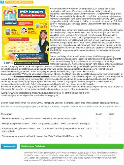 Contoh Soal AKM Literasi Informasi 1