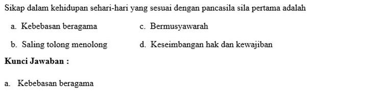 Contoh Soal PTS 1