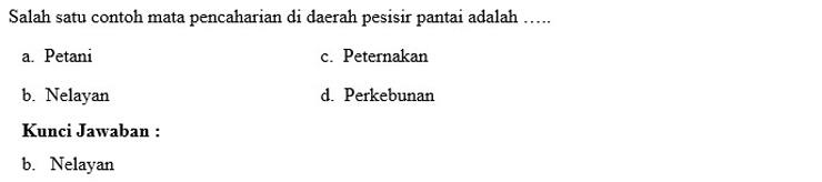 Contoh Soal PTS Kelas 5 4