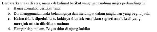 Contoh Soal PTS Bahasa Indonesia 2
