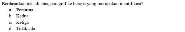 Contoh Soal PTS Bahasa Indonesia 3