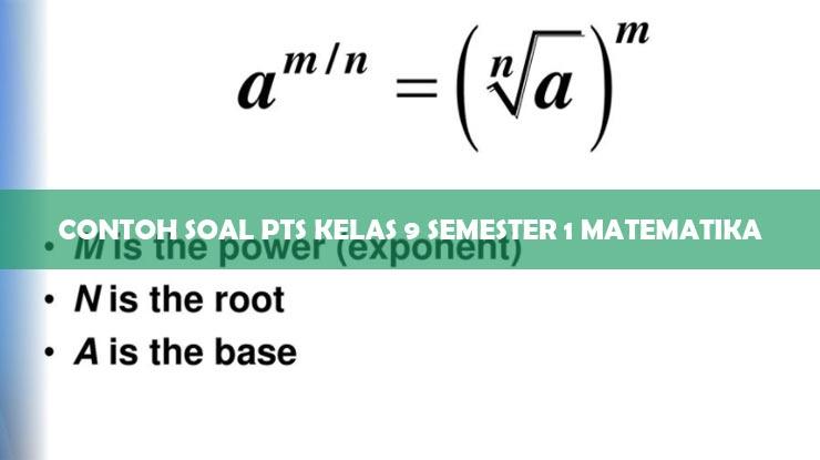 Contoh Soal PTS Kelas 9 Semester 1 Matematika