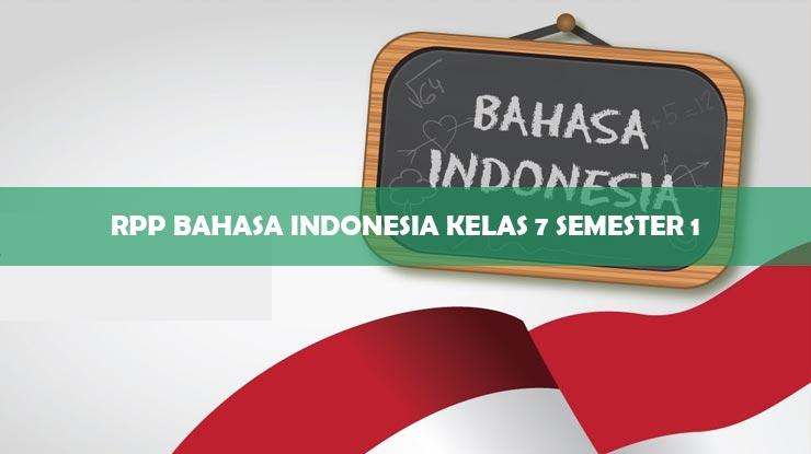 RPP Bahasa Indonesia Kelas 7 Semester 1