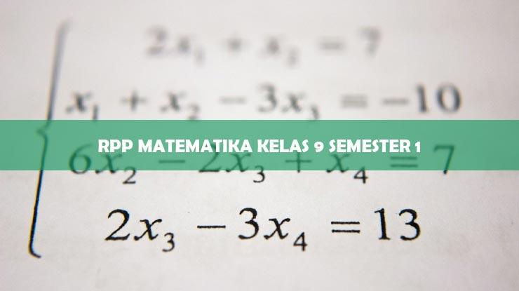 RPP Matematika Kelas 9 Semester 1