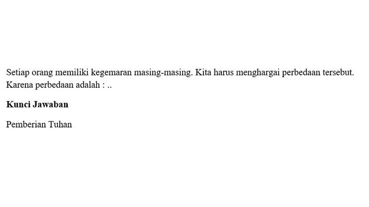 Soal 4 PH Kelas 1