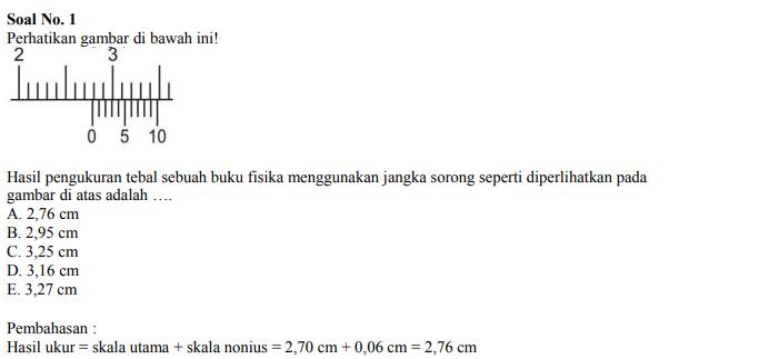 Contoh Soal Jangka Sorong 1
