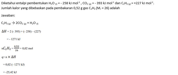 Soal Perubahan Entalpi (1) Pembakaran Kalorimeter